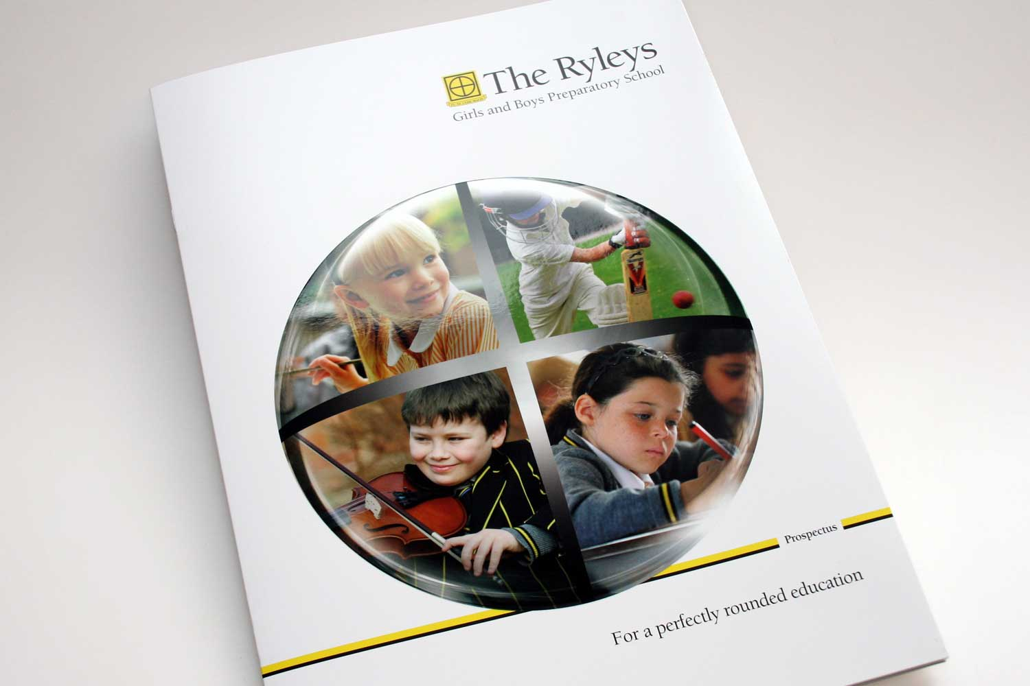 They Ryleys Preparatory School Prospectus - with embossing and spot UV coating on sphere