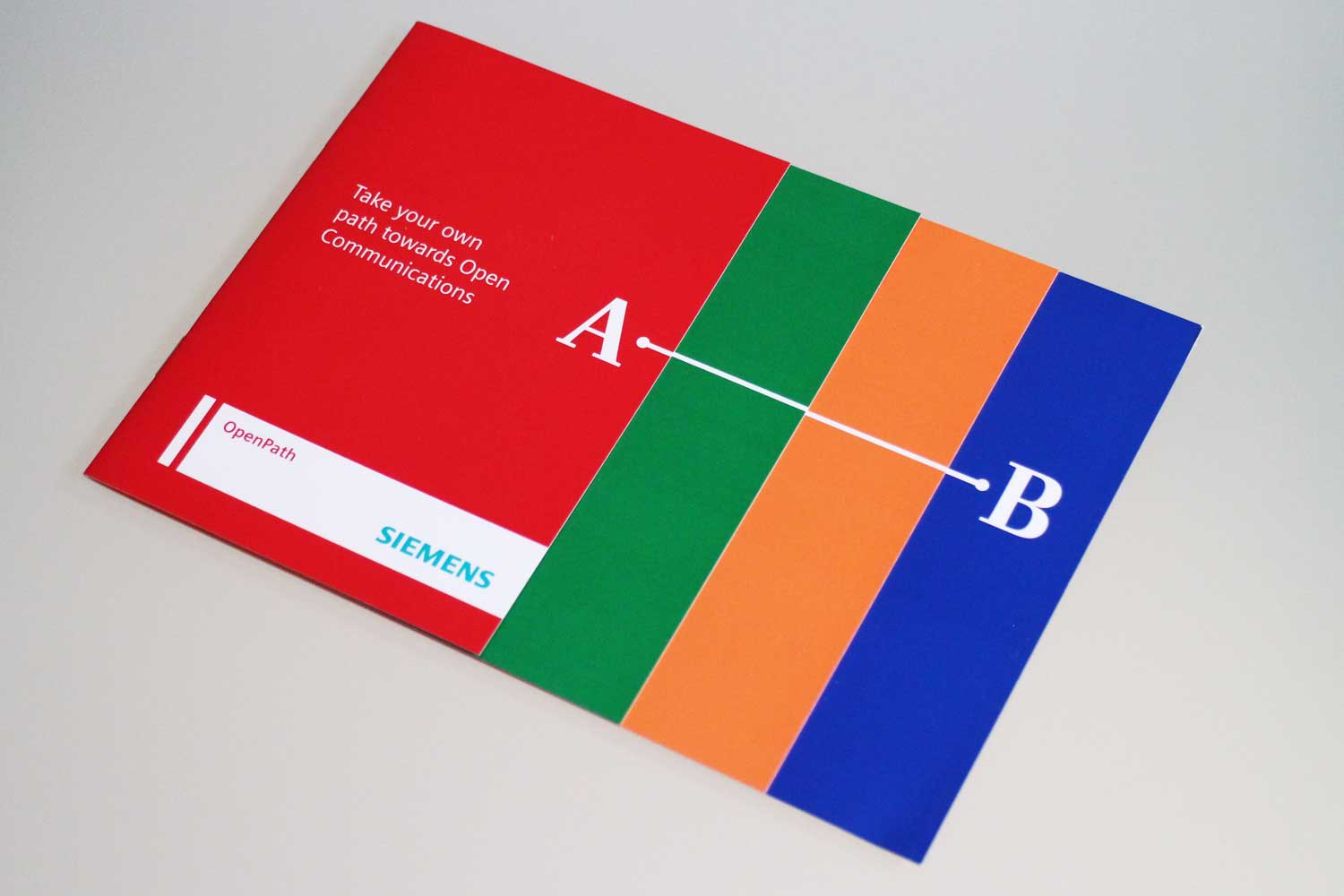 Siemens Open Communications A to B mailer -with stepped front cover