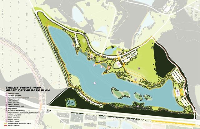 Shelby Farms Park Heart of the Park Master Plan