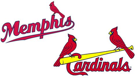 memphis redbirds and st louis cardinal logo