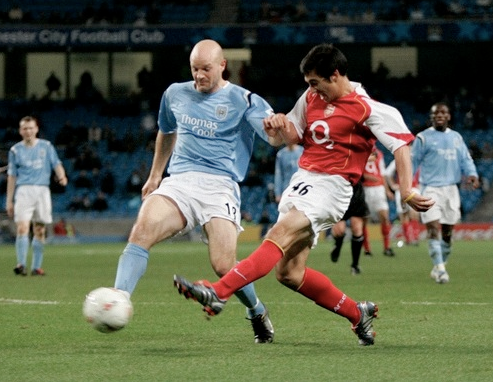 Scoring on his debut against Manchester City (in Manchester - October 2004)