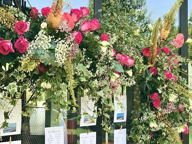 Seating plan para las novias del rosa #pinkroses #flowerstyle #creativity #weddingmadrid #luxurylifestyle #afloremio