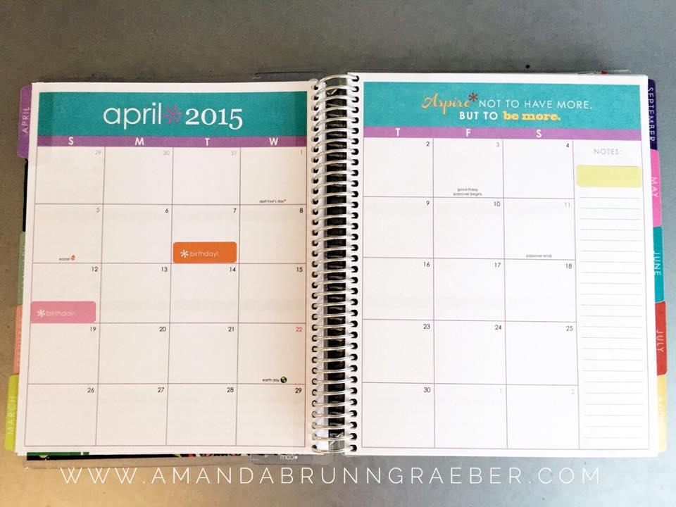 Erin Condren Life Planner Review - Monthly Layout
