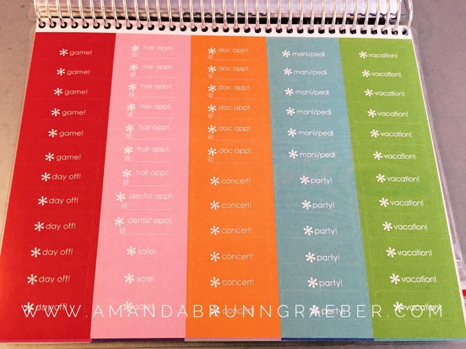 Erin Condren LIfe Planner Review stickers