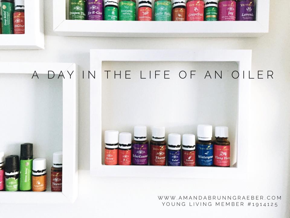 a day in the life of an oiler  Young Living Essential Oil Display using picture frames