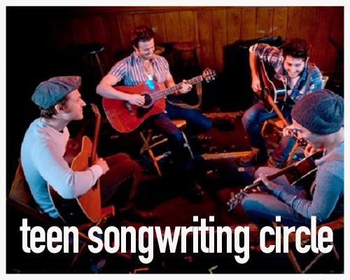 teen songwriting circle  sundays, 7:30pm-9:30pm by invitation only
