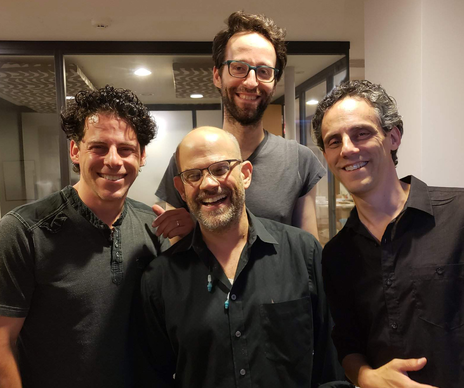Meet the band… - Our rocking house band is (l-r) Jon Rubin (bass), Brian Gelfand (keyboards), Brian Indig (drums), and Cliff Rubin (guitar). Check out their eclectic list (below) of 150 songs for you to choose from! Or just come to enjoy - you'll have a great time even if you don't get up and sing. You won't find a more fun night out this summer - don't miss it!For more about the band, check out CenterStageLBK.com!