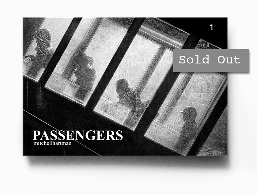 Passengers 1     1  2 pages, 4x6 inches zine printed on newsprint with 300 GSM matte cover stock, handmade.     Signed & numbered to 100         First edition, Spring 2014
