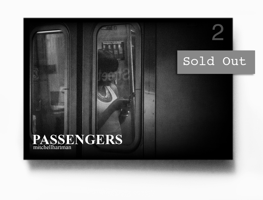 Passengers 2     1  2 pages, 4x6 inches zine printed on newsprint with 300 GSM matte cover stock, handmade. $25.     Signed & numbered to 30         First edition, Autumn 2014