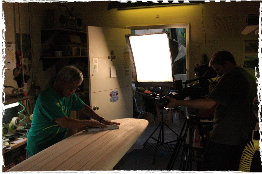 Filming Donald Takayama