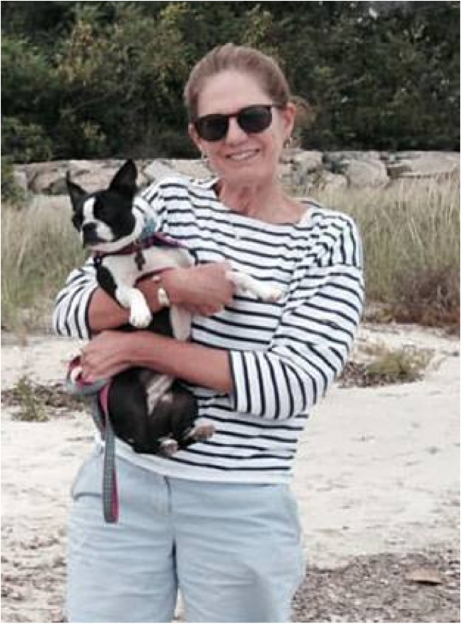 Kate with Evans & Sheldon mascot, Scout, in her beloved summer home of Hyannisport, Massachusetts