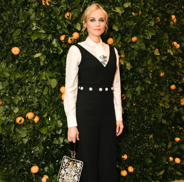 Diane Kruger at Tory Burch London