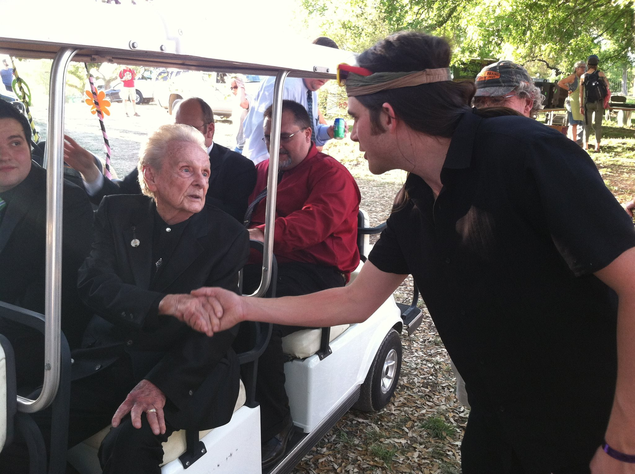 Stash meeting one of his idols, the great Ralph Stanley