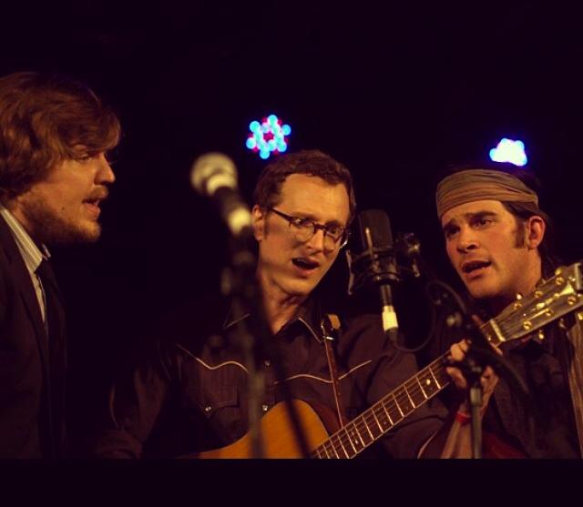 Adam Chaffins, Michael Daves and Stash singing