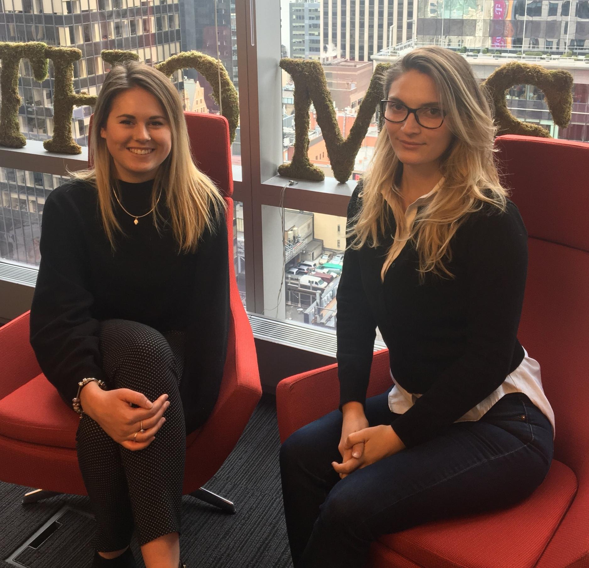 Emily Harper joins fellow GME trainee Nevenka Krzelj as a member of the Regional Marketing Team at Thomson Reuters