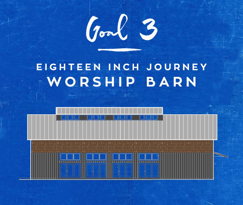 GOAL 3 - 18 INCH WORSHIP BARNFUNDS NEEDED: $500,000