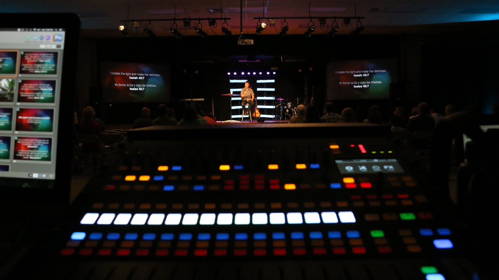 Tech Team - Audio, Video and Lighting. These people make sure everything looks good and sounds good on Sunday morning. Are you techy? Do you have an hear for mixing? Can you learn quickly? Do you read owner manuals for fun? This may be a spot for you.