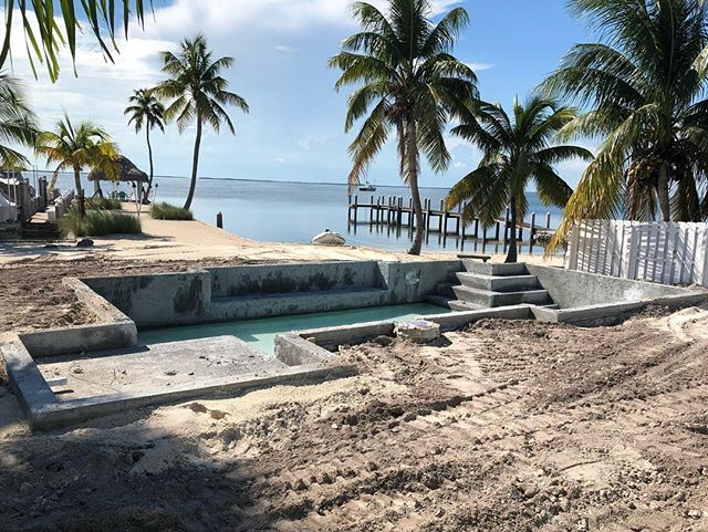SOMEONE is getting a gorgeous new pool with a view!! #islamoradapools #newpoolconstruction