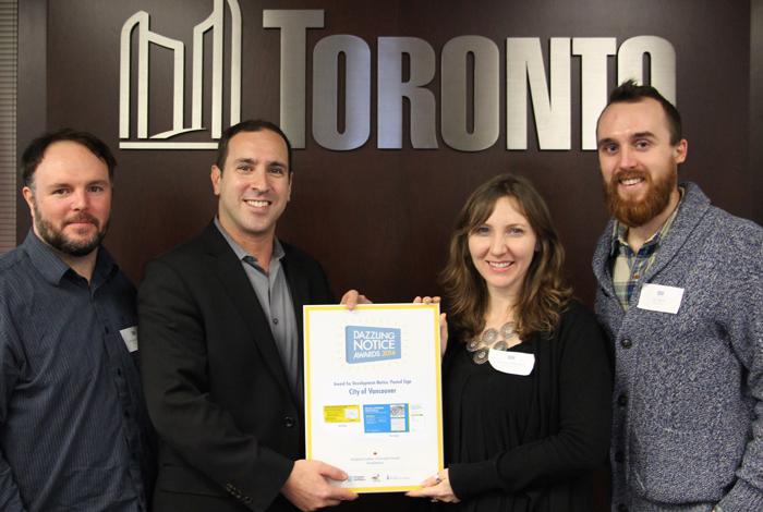 Matthew Blackett  (Spacing Magazine),  Josh Matlow  (Toronto City Councillor),  Amanda Mitchell  (Public Engagement Specialist for City of Vancouver),  Jay Wall  (Design Partner)