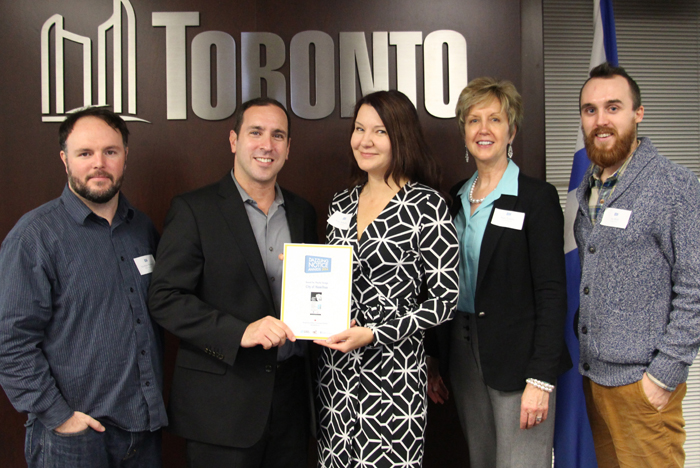 Matthew Blackett  (Spacing Magazine),    Josh Matlow  (Toronto City Councillor),  Alice Sabourin  (Senior Project Manager, Tourism and Culture Division, City of Hamilton),  Patti Tombs  (Manager, Cultural Planning and Marketing, City of Hamilton),  Jay Wall  (Design Partner)