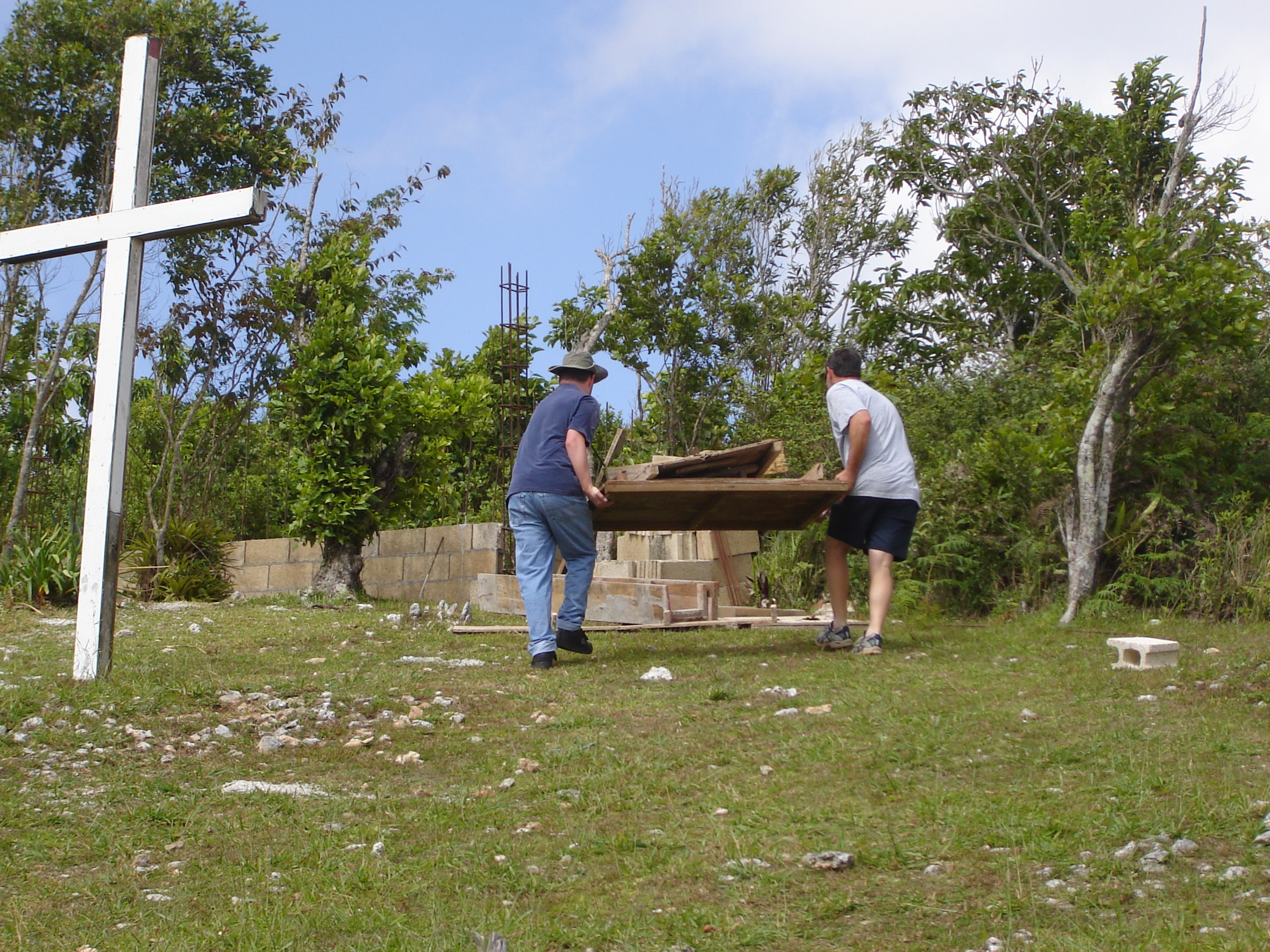at work on Jamaica mission trip