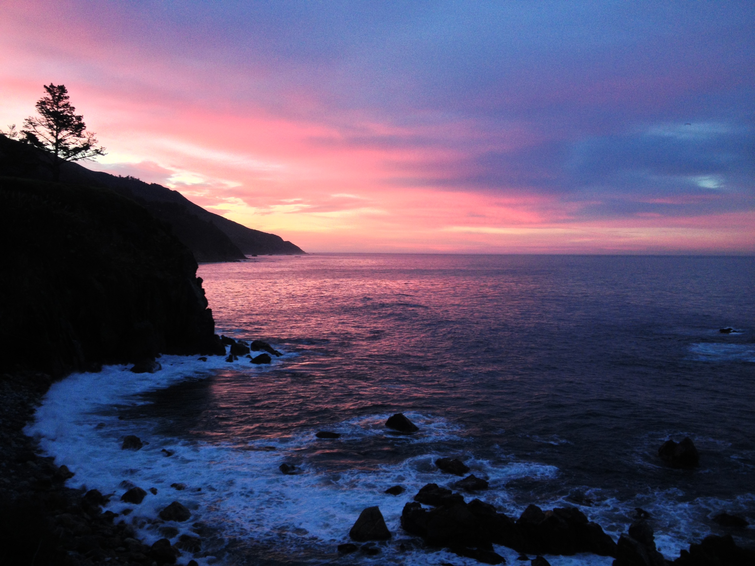Sunrise from the Murphy House at Esalen on January 22, 2015 during my last retreat with Tias Little & Henry Shuckman.