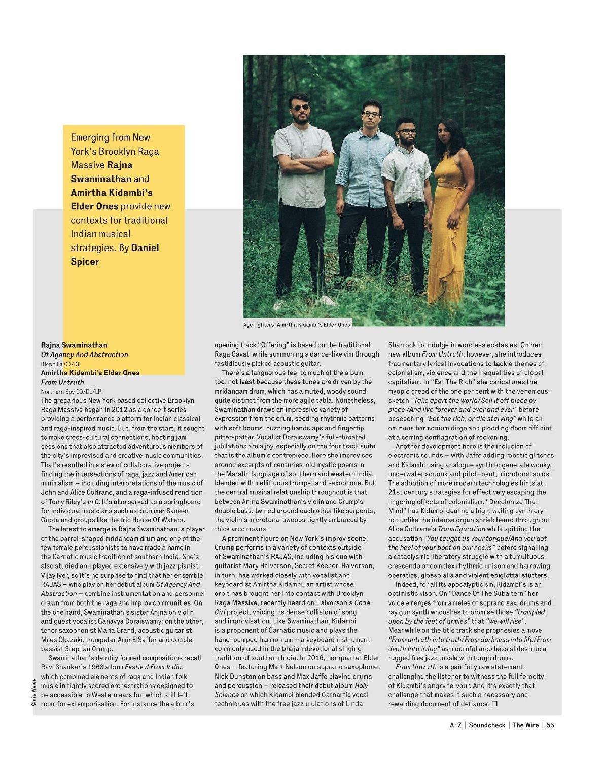 Elder Ones  From Untruth  Review in Wire Magazine, April 2019