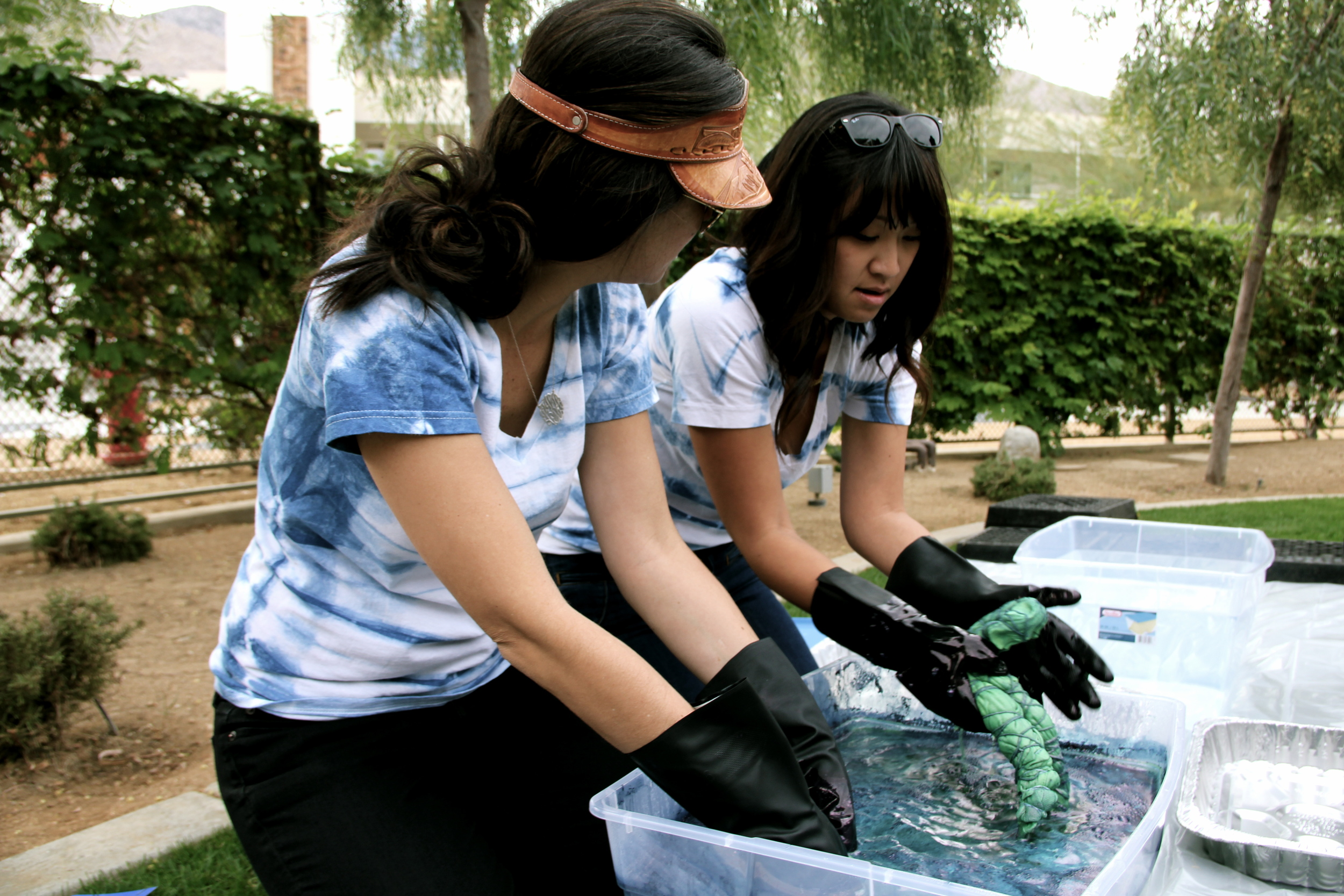 A shibori tie dye workshop with Honestly WTF at the very first Create & Cultivate in Palm Springs, CA.