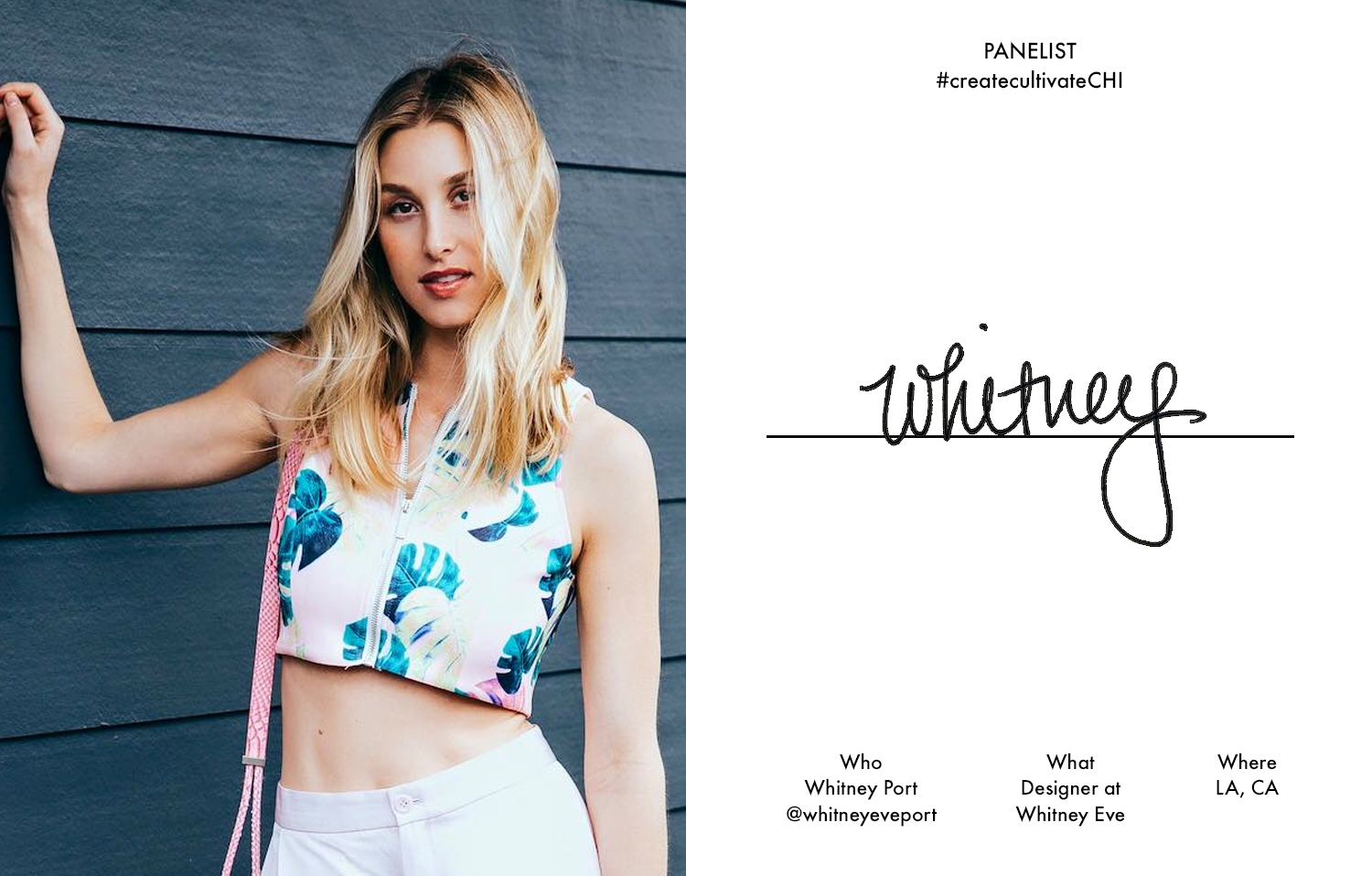 Whitney wearing her  Awapuhi crop top, $79 , the talk of our #createcultivateLA conference!