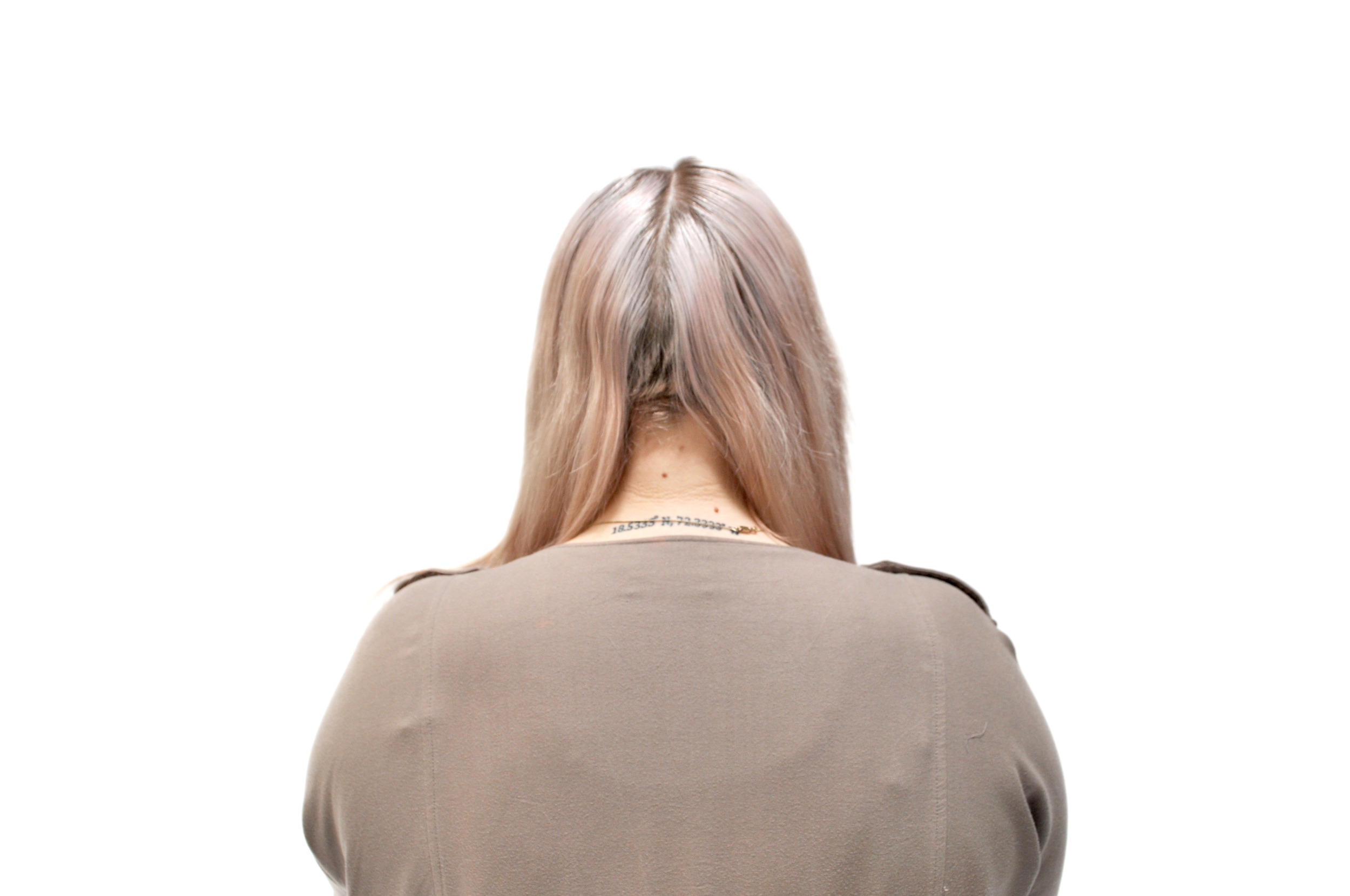 Part your hair down the middle.Start on one side by taking a section at the top of the head, and divide the section into 3 stands, crossing over each other like a regular braid.