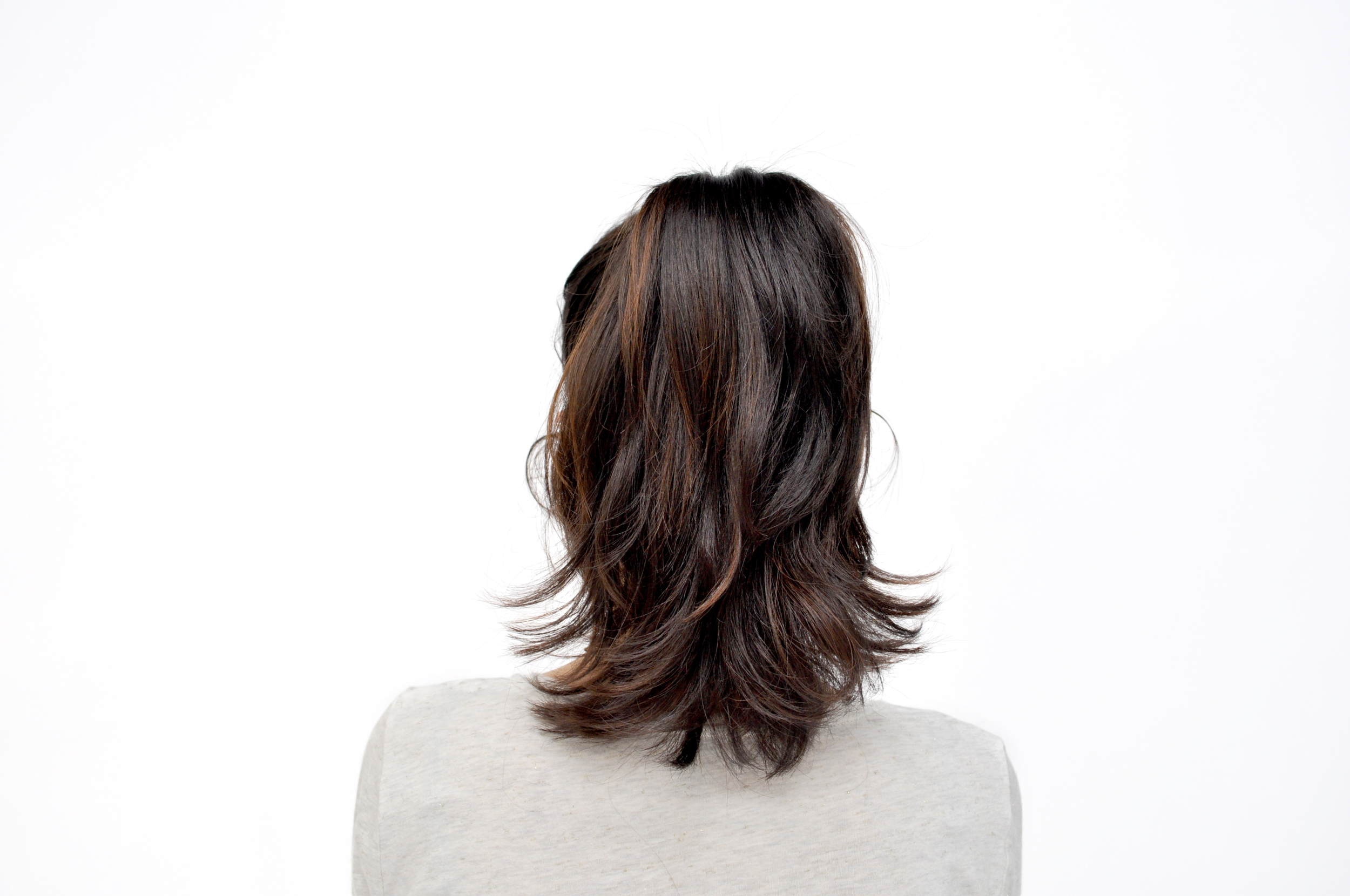 Brush your hair into a high pony tail. Make sure to get it to the very top of your head!