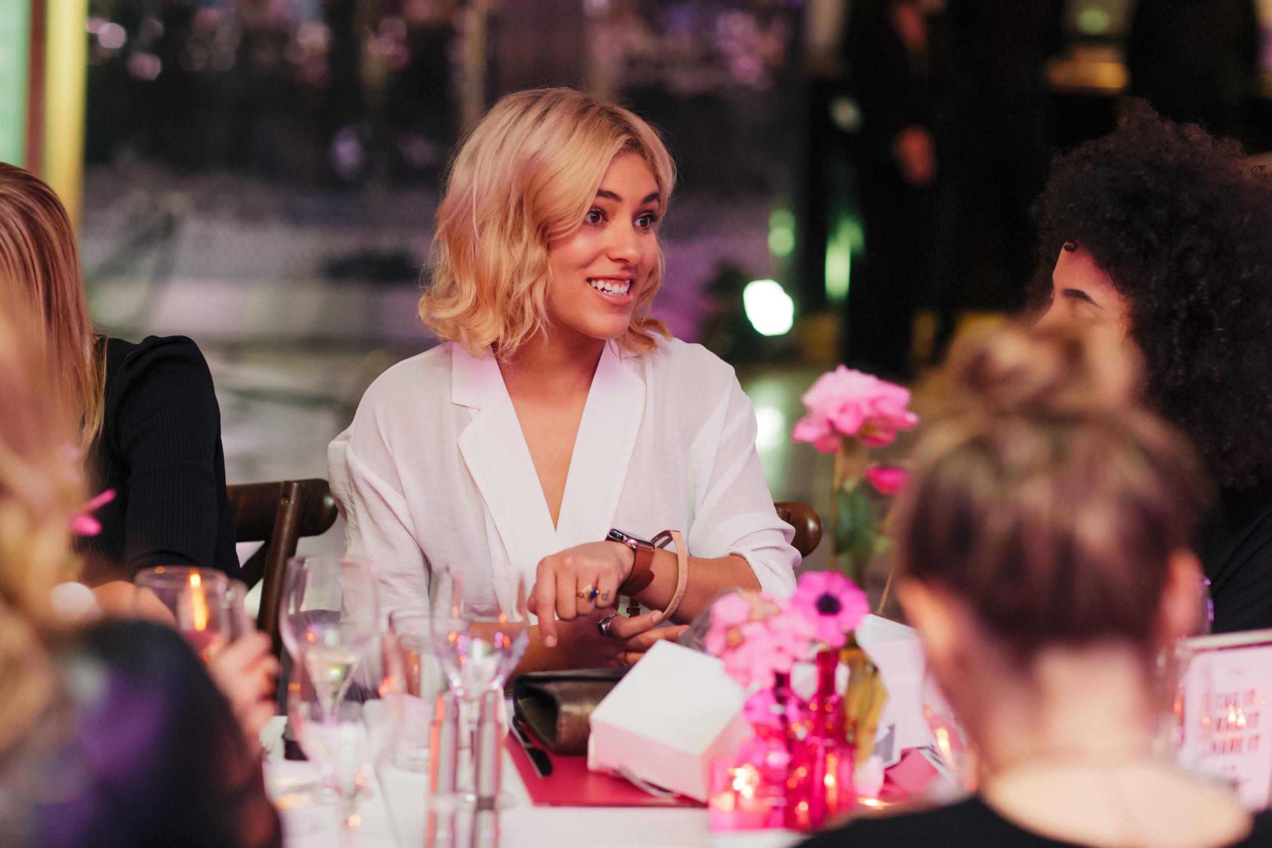 Christina Caradona of Trop Rogue chats with Nikisha Brunson of Urban Bush Babes.