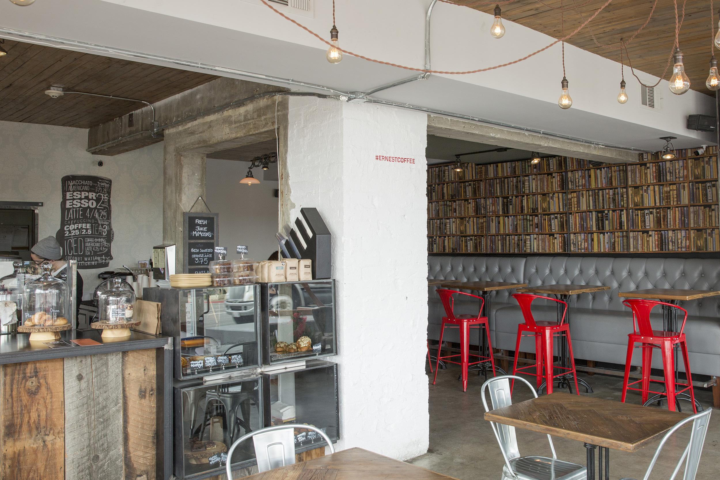 Interior of Ernest Coffee.  Image courtesy of Jaime Kowal.