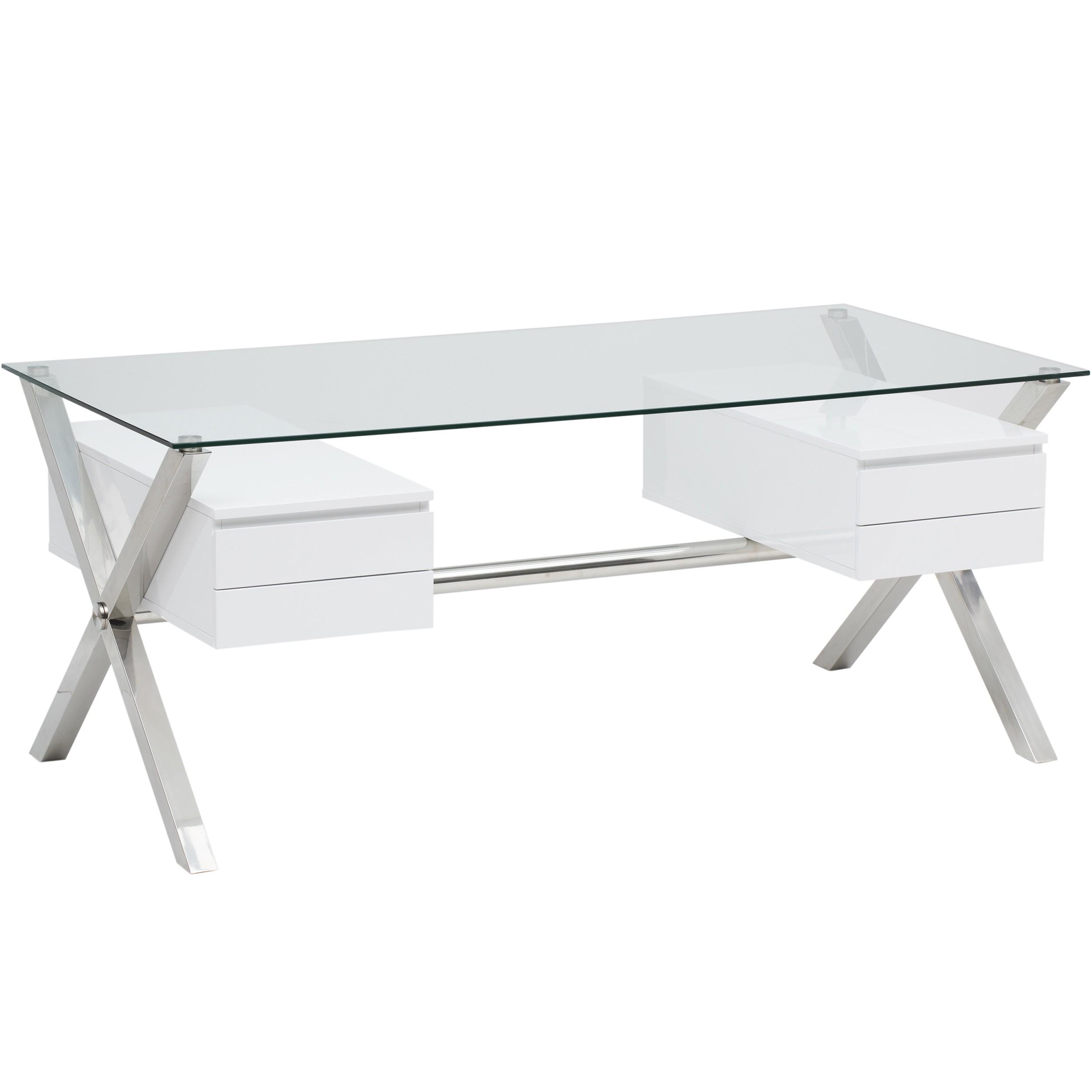 Beverly Large Desk, White, $939.