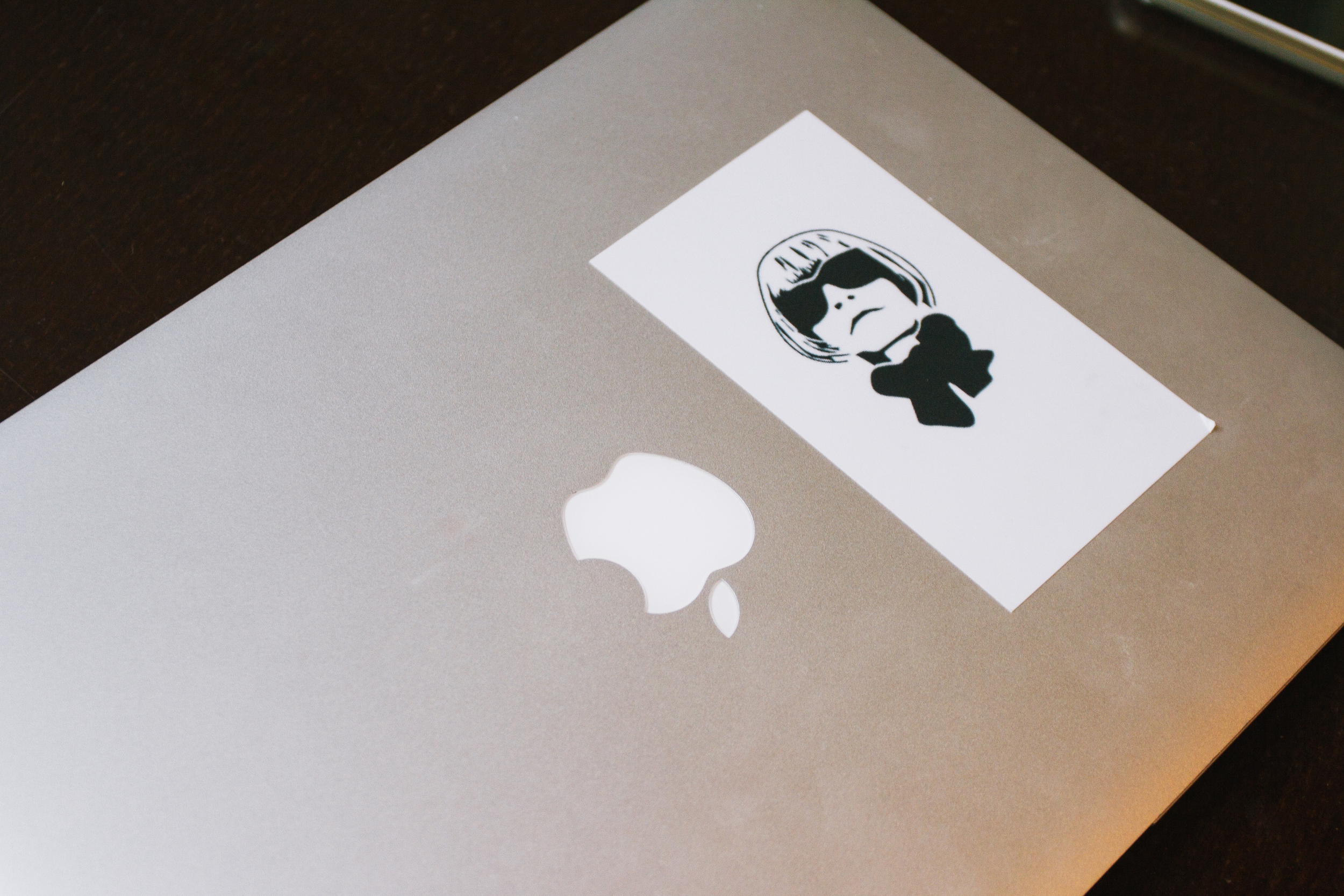 "Rona's laptop featuring Anna Wintour. ""It reminds me to say on my game. You never know when she's gonna call."""