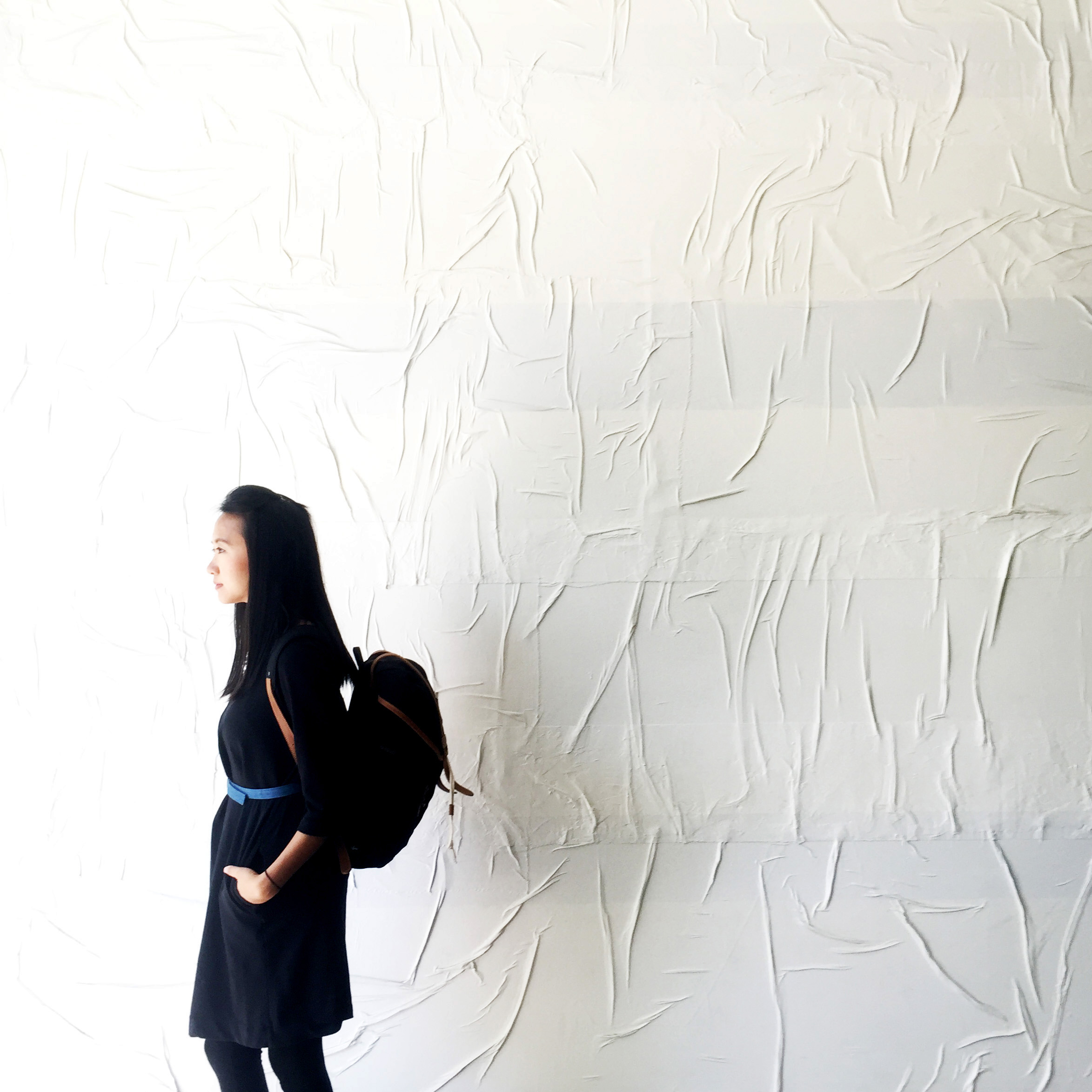 On the hotel's second floor Designer Sean Knibb created brilliant white, textured walls that make for a perfect backdrop.  Credit:  Kode of   Kondukt