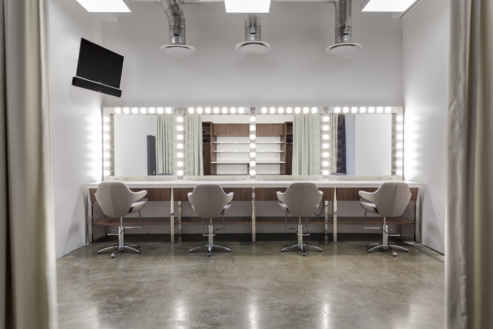 State-of-the-art hair and makeup stations.