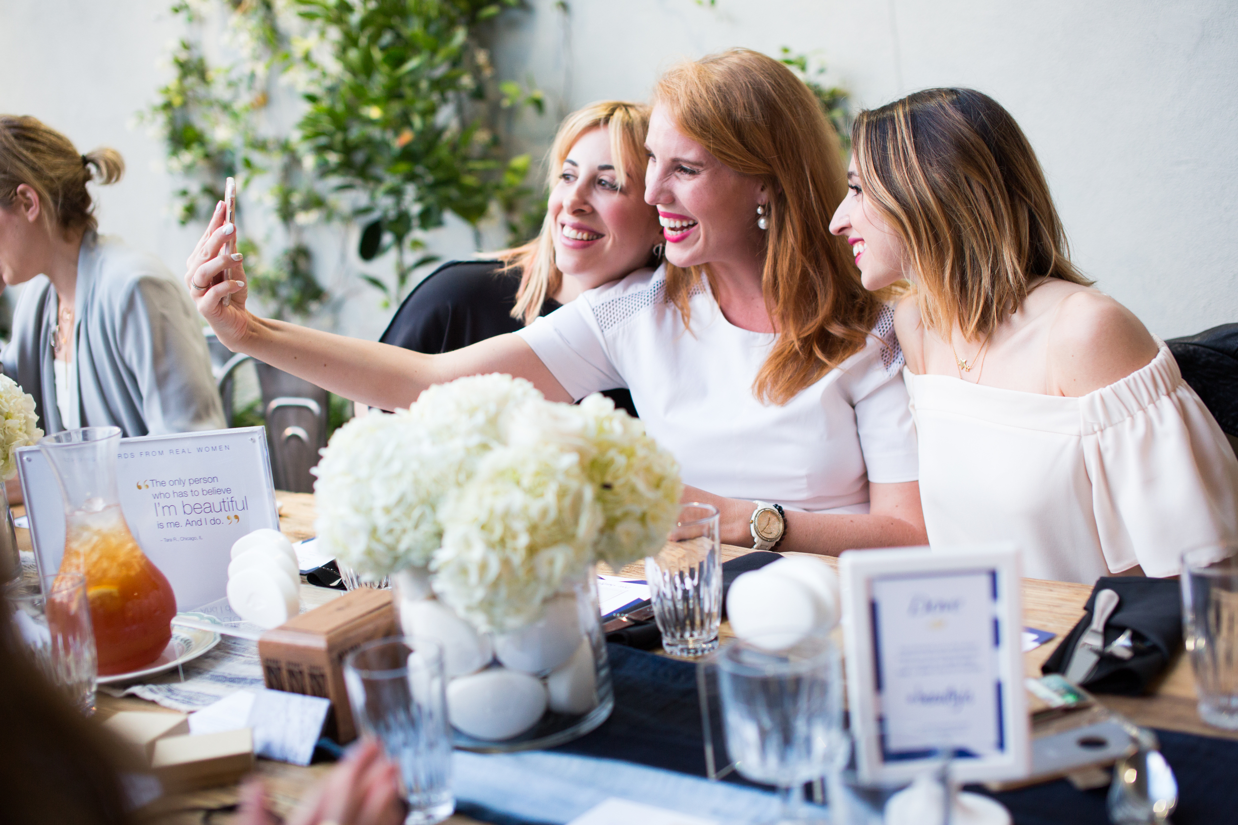 Jessy Fofana, Maxie McCoy, and Jaclyne Franciscone snap a #BeautyIs selfie.
