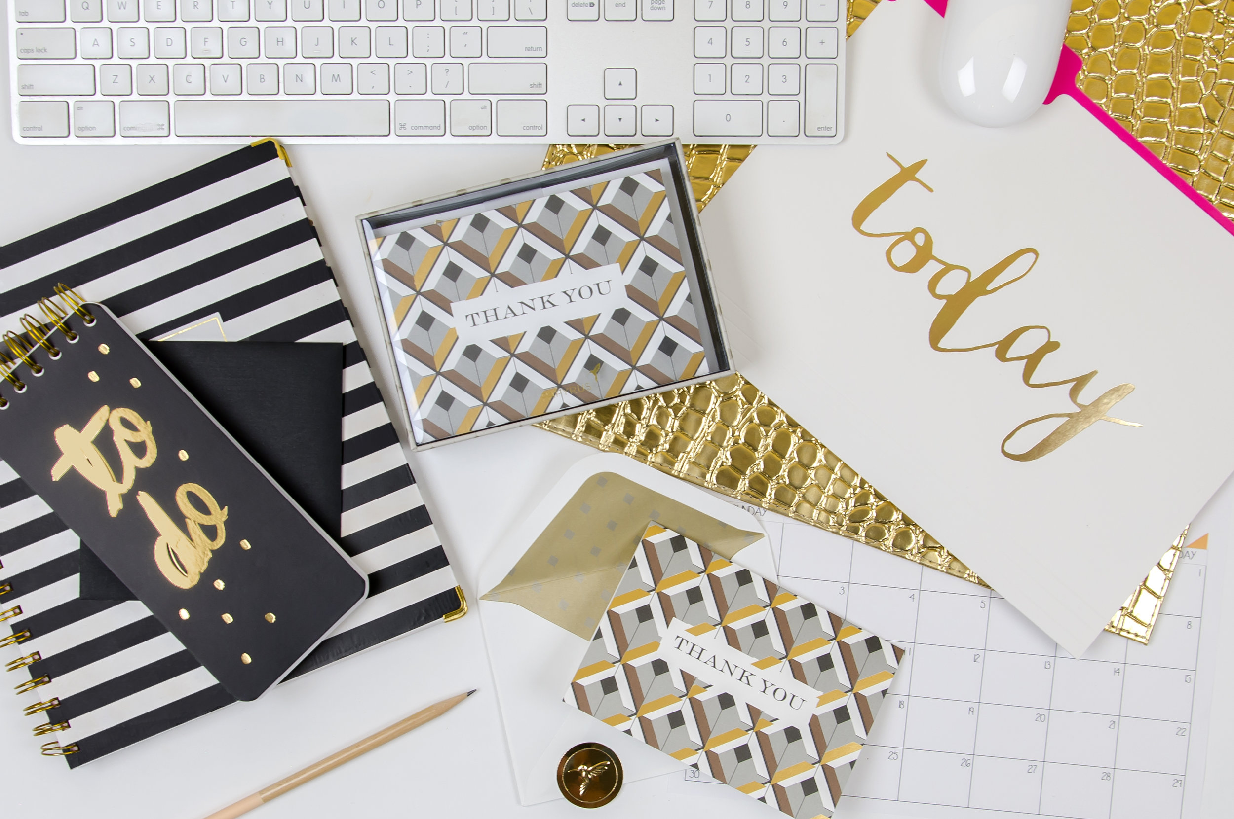 Above:  Diamond Patterned Thank You Notes