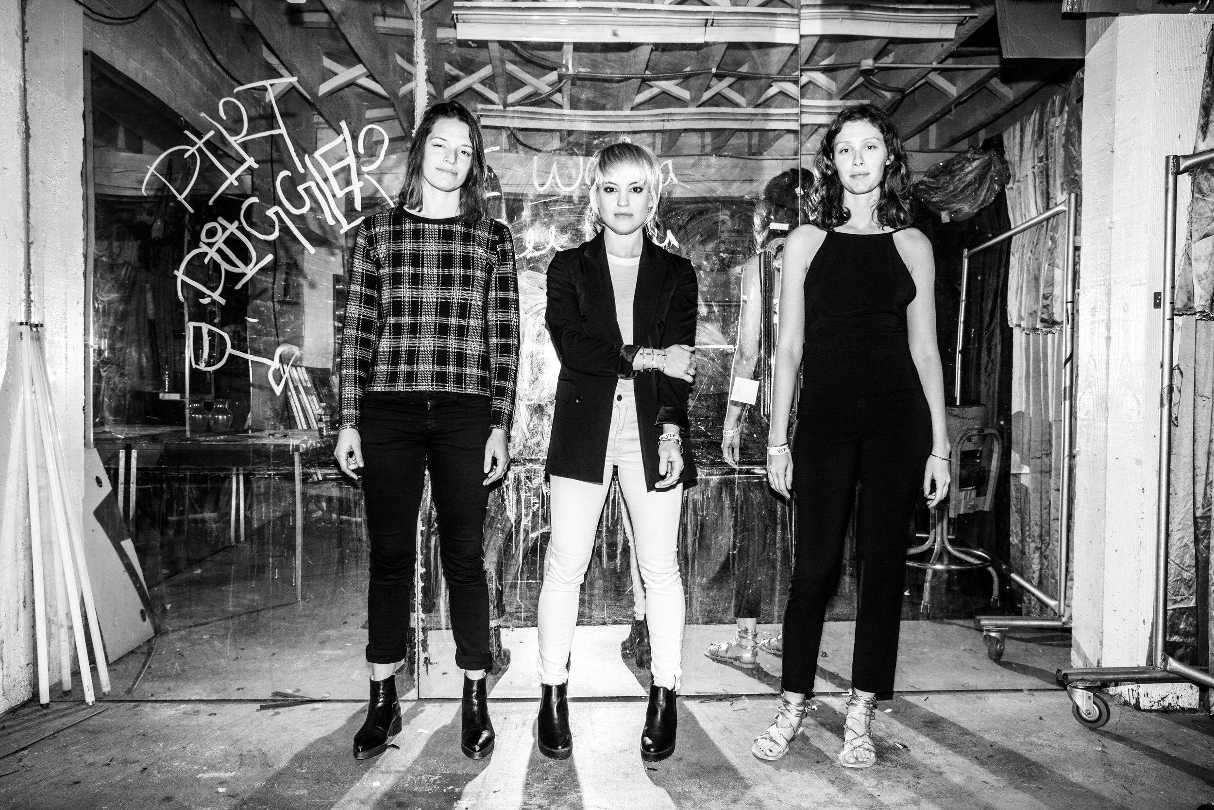 Adrien Young, Anna Bulbrook, and Jasmine Lywen-Dill. Photo by Jen Rosenstein.