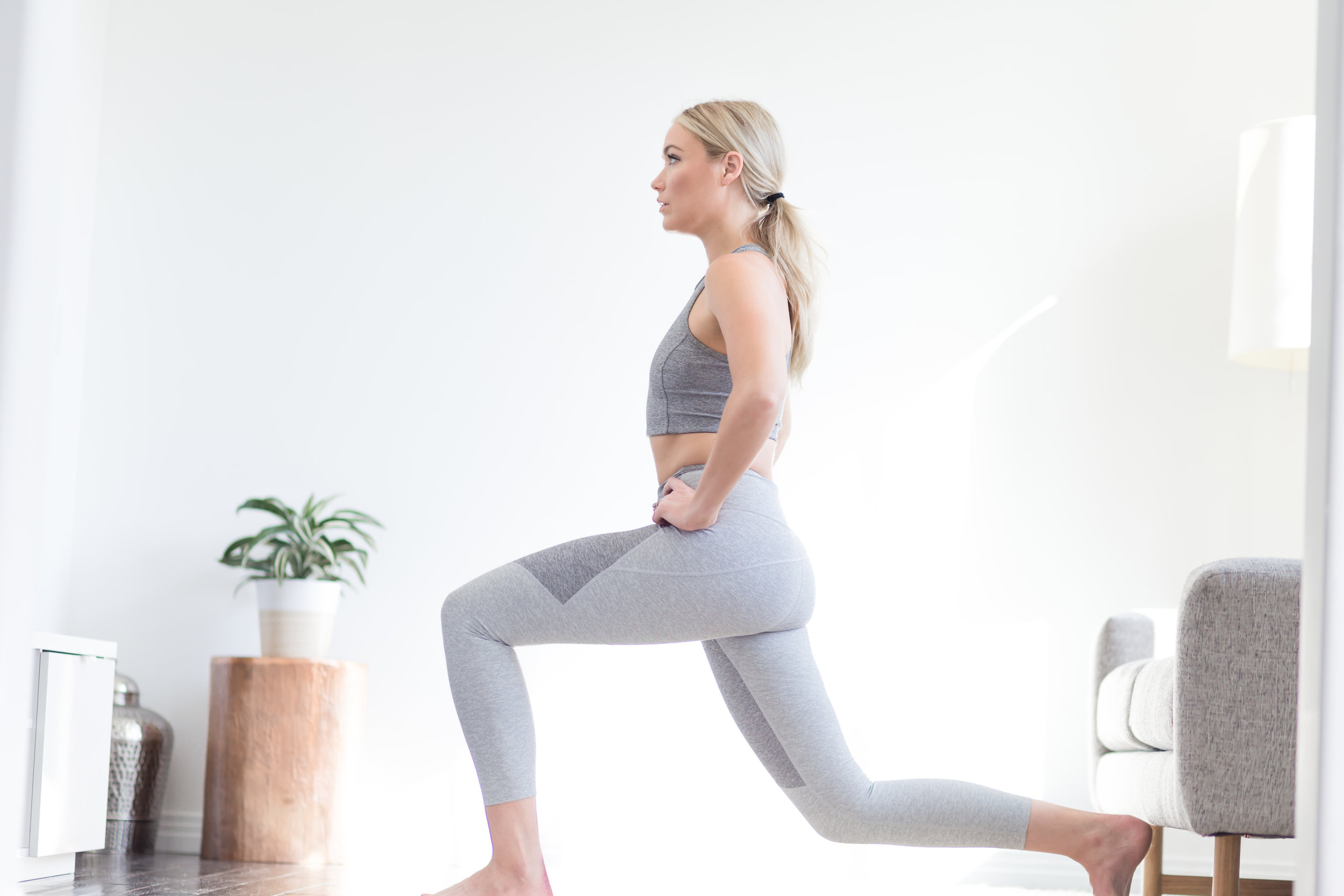 Position 2 reverse lunge.