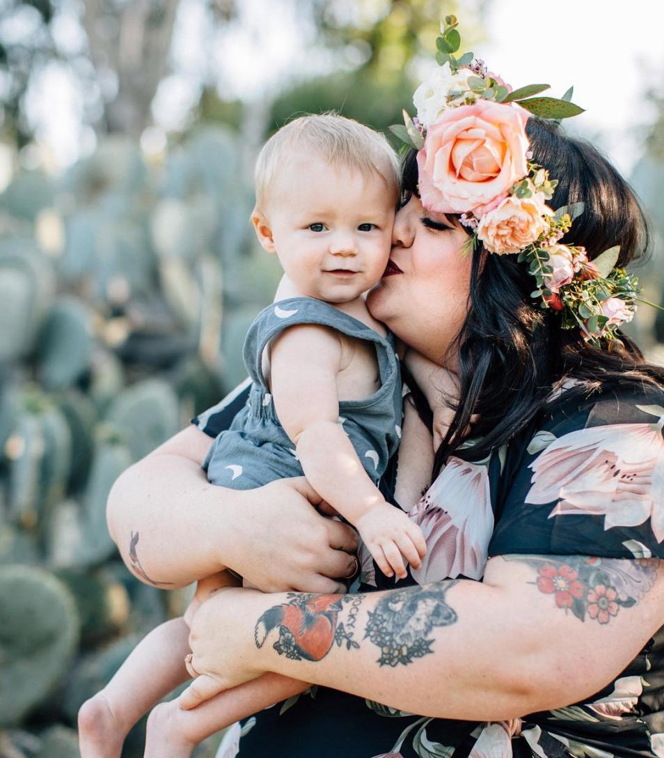 Samantha with son Rocky. photo credit:  Taryn Kent