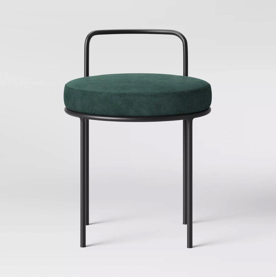 Target velvet accent stool