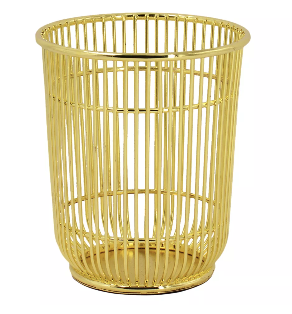 "Project 62 Wire Pencil Cup$7 - ""This catch-all pencil holder is great for all your essentials and I love the gold finish on this."""