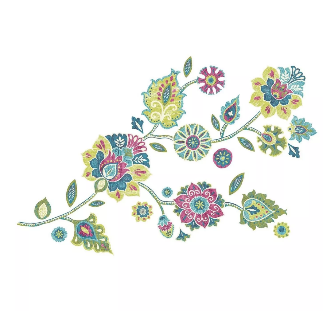 "RoomMates Boho Floral Peel and Stick Giant Wall Decals$11 - ""I'm completely obsessed with wall decals right now and this colorful floral motif will brighten up any space."""