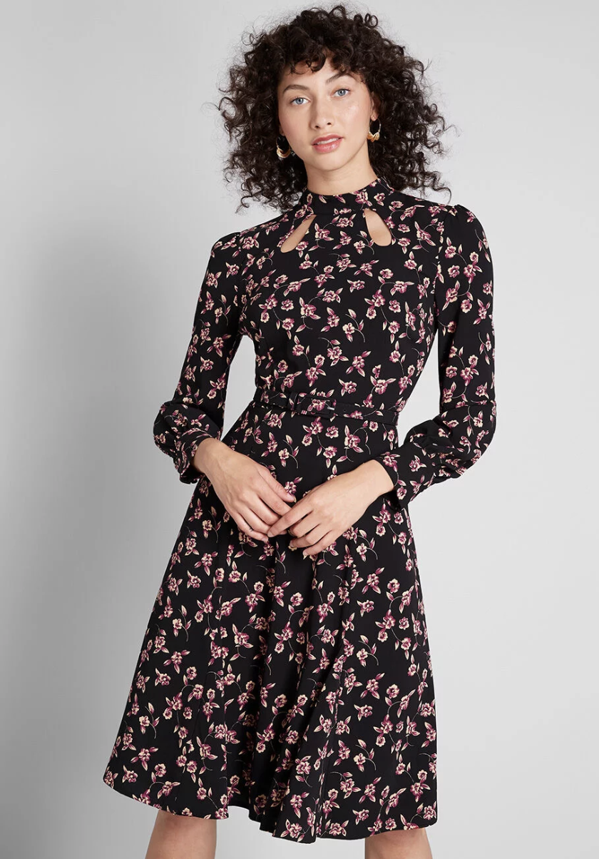 ModCloth Enjoy Every Moment Midi Dress$89 - We love the whimsical floral motif of this chic A-line dress. Throw a blazer over it for major boss vibes.