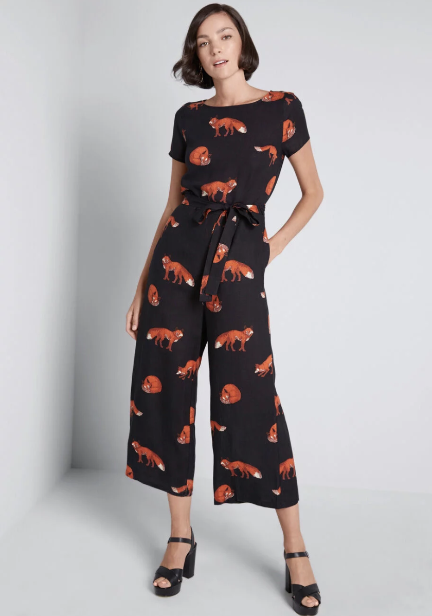 ModCloth Bold Notion Tie Waist Jumpsuit$89 - This jumpsuit will be your next desk-to-dinner go-to. Just add a red lip for drinks after work.