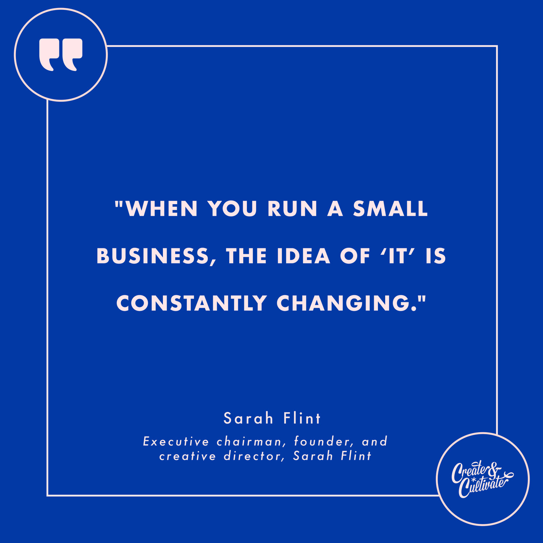 Sarah Flint quote