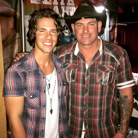 Jesse and Keith Anderson after their show together at Short Creek Saloon.