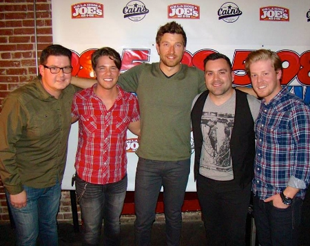 Hanging with Brett Eldredge at the Cain's Ballroom Show.